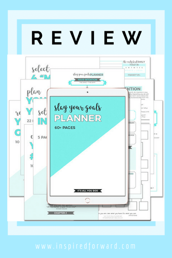 slay your goals planner pinterest v1