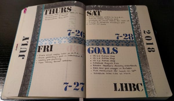 bullet journaling daily spread