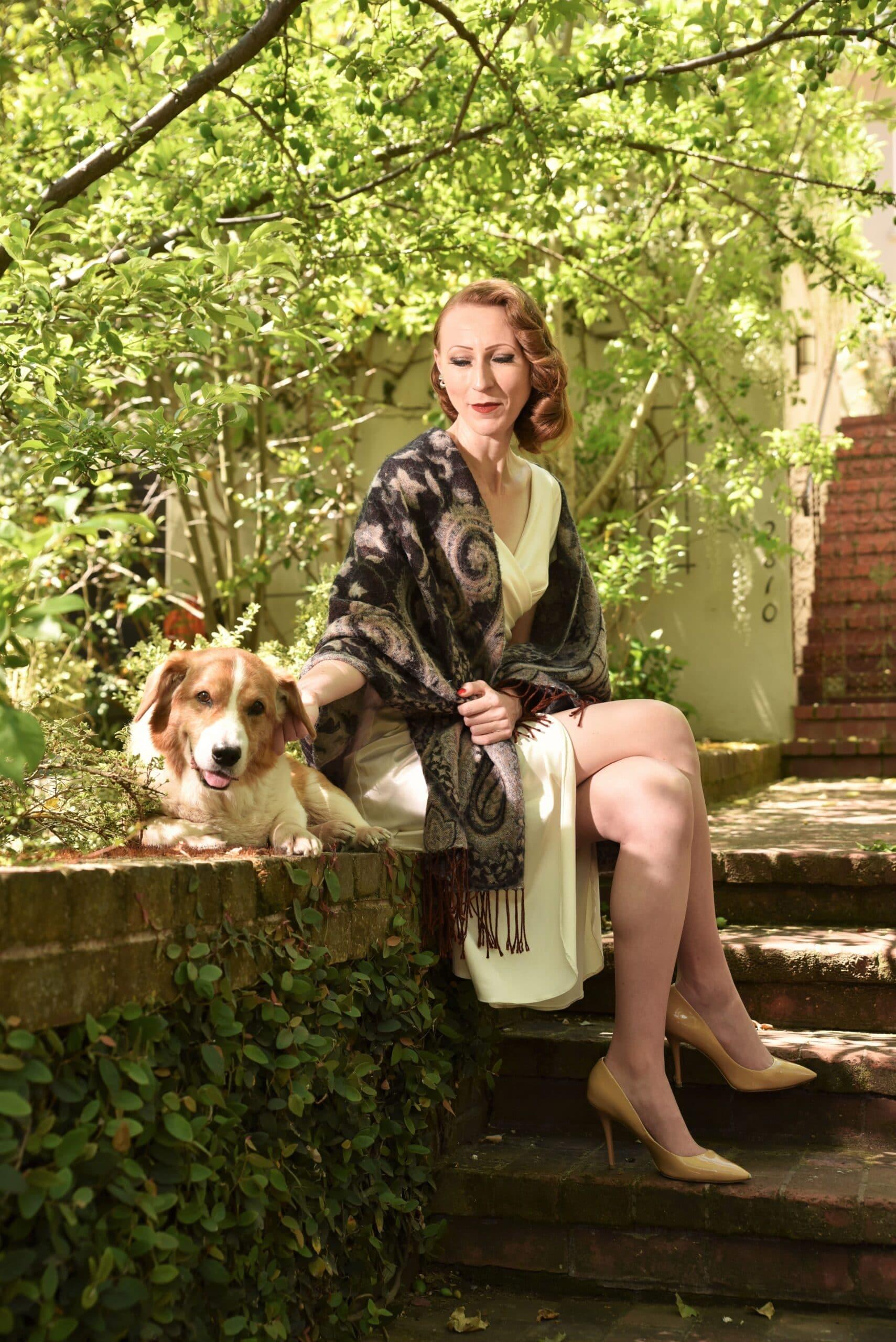 Doris Hobbs Dog on the Porch