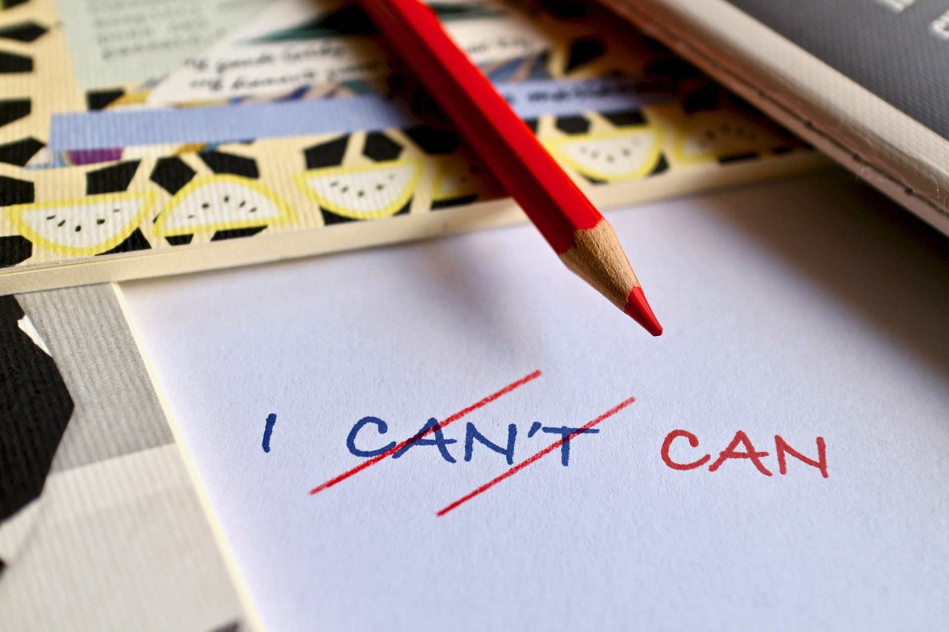 """4 Ways to Boost Self Esteem Post Image """"I can't to I can"""""""